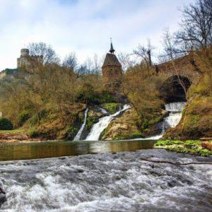 Wasserfall Röser Mühle, Burg Pyrmont